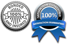 bonded and insured and satisfaction guaranteed badge